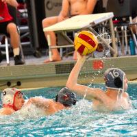 Milford vs. Mason (in Viking caps) Ohio Boys South Region Water Polo Quarterfinal